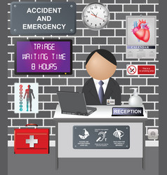 comical accident and emergency vector image