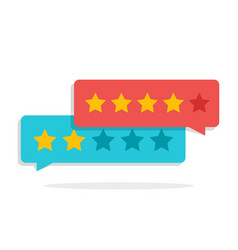 Concept of customer feedback rating in the form vector