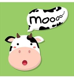 Cute Cow Talking Moo vector