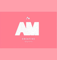 Design of alphabet letter logo am a m combination vector