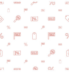discount icons pattern seamless white background vector image