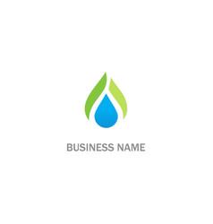 Droplet bio eco organic logo vector
