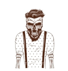 Fashion zombie dressed in t-shirt vector