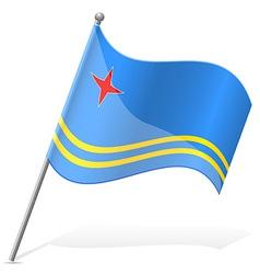 Flag of aruba vector