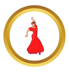 Flamenco dancer icon vector image
