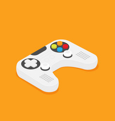 flat joystick isometric isolated on color vector image