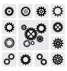 gearwheel mechanism icon vector image