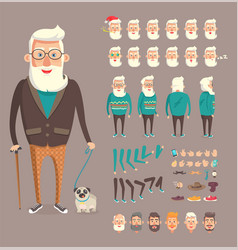 grandfather collection builder vector image