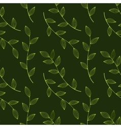 green leaves seamless vector image