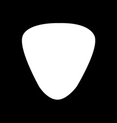 guitar pick icon design vector image