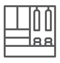 Hallway furniture line icon furniture and home vector