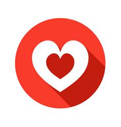 heart stylish icon vector image