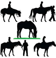 Horse riding school vector
