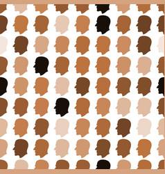 human head pattern vector image
