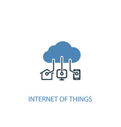Internet things concept 2 colored icon simple vector