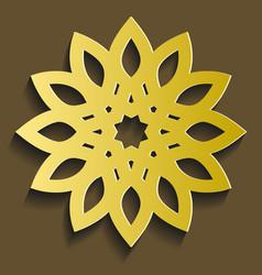 Islamic ornament circular 3d ramadan round vector