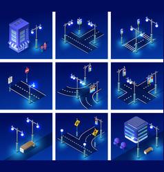 Isometric night light lighting vector
