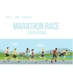 Jogging running maraphone race people vector