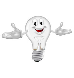 light bulb mascot vector image