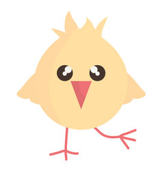 little chick cute bunny character vector image