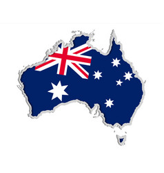 map and flag of australia symbols of australia vector image