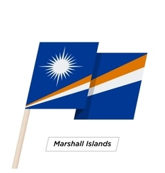 Marshall Islands Ribbon Waving Flag Isolated on vector