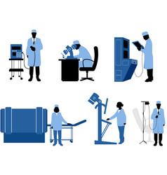 Medics with equipment vector