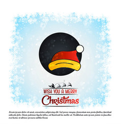 merry christmas card with creative design vector image