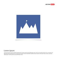 mountain icon - blue photo frame vector image