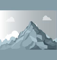 Mountain landscape alpine mountain graphic top vector
