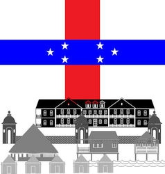 Netherlands Antilles vector image