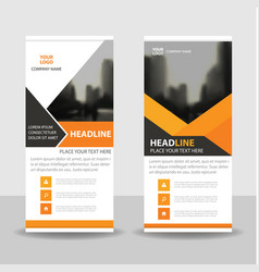Orange black business roll up banner flat design vector