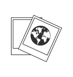Planet sphere inside picture design vector