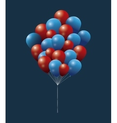President day bunch balloon flying decorative vector