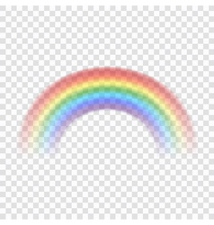 Rainbow icon realistic 1 vector