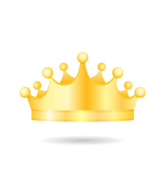 realistic medieval royal golden king crown diadem vector image