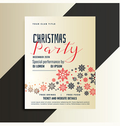 red and black christmas flyer design template vector image