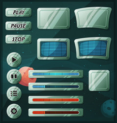 Scifi space icons for ui game vector