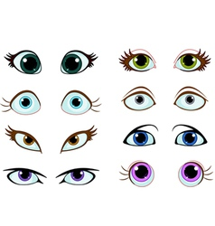 Set of cartoon eyes vector image