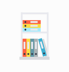 Shelves and document cases on vector