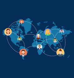 social network people vector image