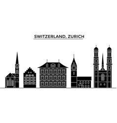 Switzerland zurich architecture city vector