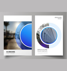 the layout a4 format modern cover vector image