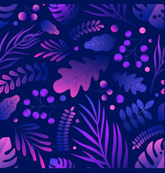 trendy natural seamless pattern with gradient vector image