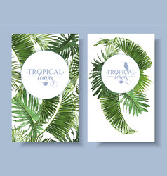 tropical leaf banners vector image