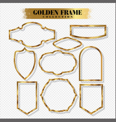 vintage gold frame on white background 04 eps vector image