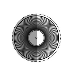 vinyl music isolated vector image