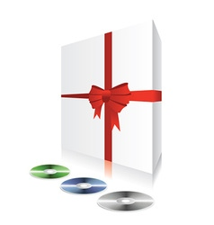 White box with cd vector