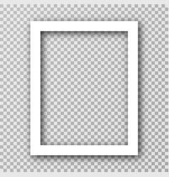 white photo frame for social media with white vector image