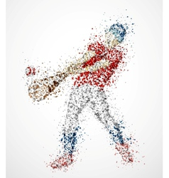 Abstract baseball player vector image